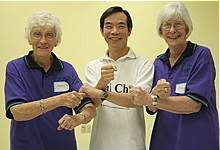 Dr Paul Lam with active elderly